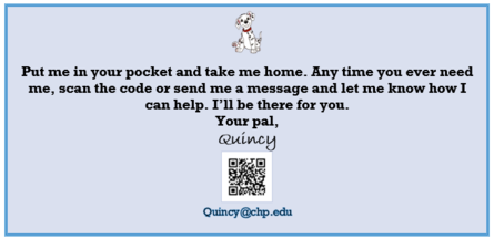 Message from Quincy the Dog